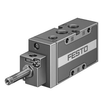 费斯托FESTO 两位五通电磁阀,机械复位,内先导气源,不含线圈,MFH-5-1/8-B,19758
