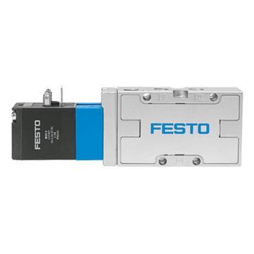 费斯托FESTO 两位五通电磁阀,机械复位,内先导气源,不含线圈,MVH-5-1/8-B,19779