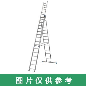金锚 铝合金多功能组合梯 踏棍数:3 x 14 最大承重(KG):260 人字梯高度(米):3.77,CE3x14