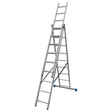 金锚 铝合金多功能组合梯 踏棍数:3 x 9 最大承重(KG):260 人字梯高度(米):2.41,CE3x9