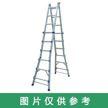 金锚 美式铝合金折叠延伸梯 踏棍数:24 额定载荷(KG):110 人字高度(米)3.36,FE4×6EII