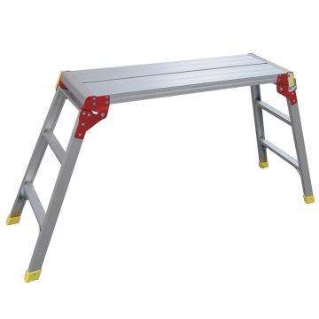 金锚 铝合金工作平台梯 踏棍数:2 最大承重(KG):260 平台高度(米):0.74,LFD90AL12X
