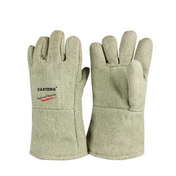 卡司顿 隔热手套,GAAA15-34,500+°耐高温手套 绿色