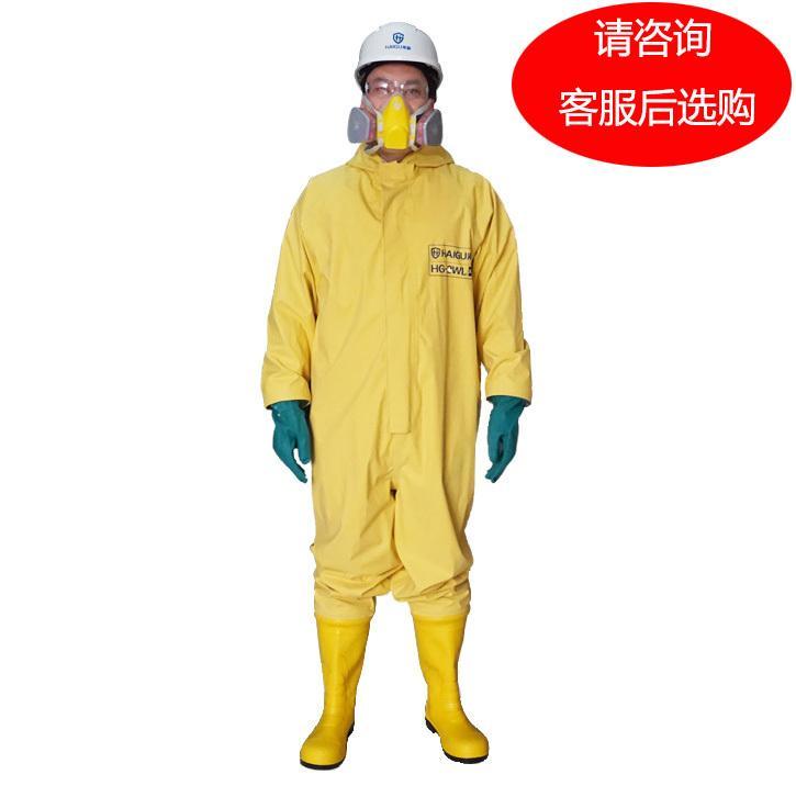 海固 国标2级防化服,HG-2WL-XL,氯丁胶轻型2级外置半封闭防化服 颜色随机 选颜色请联系客服