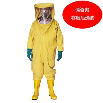 海固 国标2级防化服,HG-2NL-XL,氯丁胶轻型2级内置半封闭防化服 颜色随机 选颜色请联系客服