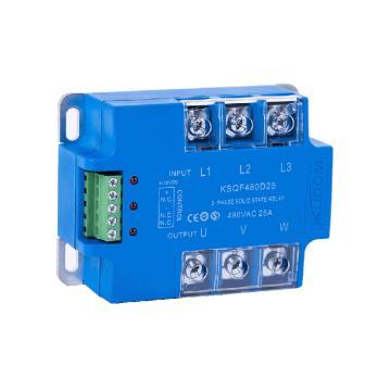 库顿KUDOM 三相面板安装直流固态继电器,KSQF480D25 25A 48-530VAC