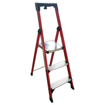 金锚 玻璃钢绝缘工作梯,踏板数:3 额定载荷(KG):150 工作高度(米):0.72,FO11-103