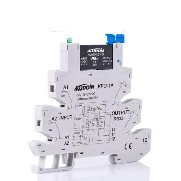 库顿KUDOM 导轨安装型直流固态继电器,KSMD48D3-24D 3A 0-58VDC
