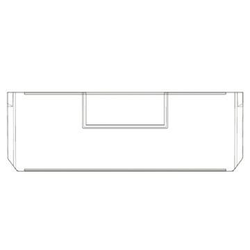 Raxwell 209系列横向分隔板,TK-V209,外尺寸规格D*W*H(mm):220×74×10,半透明10个/包