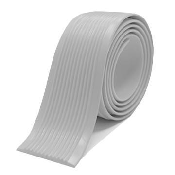 安赛瑞 自粘式PVC楼梯防滑条-灰,PVC材质,覆3M背胶,40mm×30m,厚度3mm,13834
