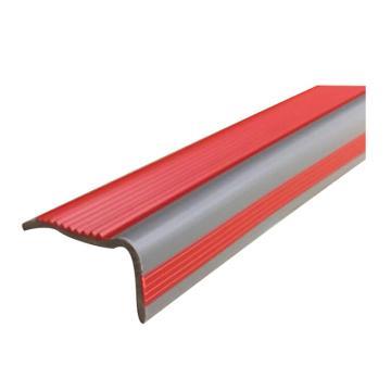 安赛瑞 PVC楼梯包边防滑条-红/灰,PVC材质,50mm×25m,厚度3mm,13860