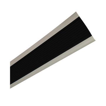安赛瑞 PVC楼梯包边防滑条-黑/灰,PVC材质,50mm×25m,厚度3mm,13863