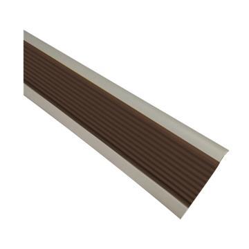 安赛瑞 PVC楼梯包边防滑条-棕,PVC材质,50mm×25m,厚度3mm,13865