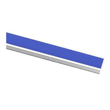 安赛瑞 铝合金楼梯包边防滑条-蓝,长度1.5m,宽45×高18×厚1mm,13868