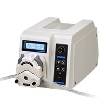 兰格 分配型蠕动泵,可分配液量,转速:0.1-100rpm,单通道流量:0.2ul-32ml,BT100-1F(泵头Dg-4(10滚轮))