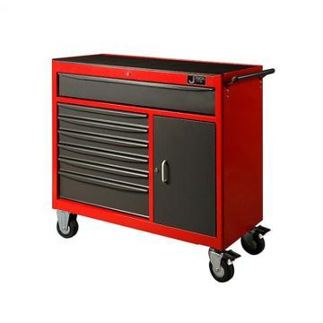 捷科JETECH 9抽屉工具车,RC-9,多功能工具箱 工具推车 工具柜 移动维修工具车