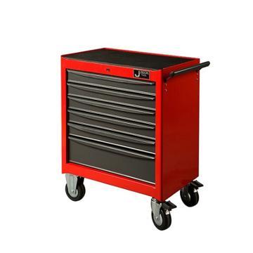 捷科JETECH 6抽屉工具车,RC-6,多功能工具箱 工具推车 工具柜 移动维修工具车