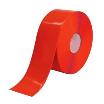 安赛瑞 重载型划线胶带,1mm厚PVC基材,50mm×30m,红色,15002