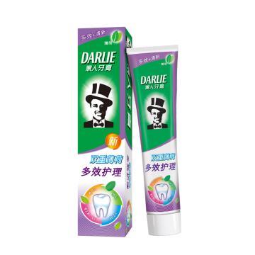 黑人darlie牙膏,双重薄荷多效护理120g