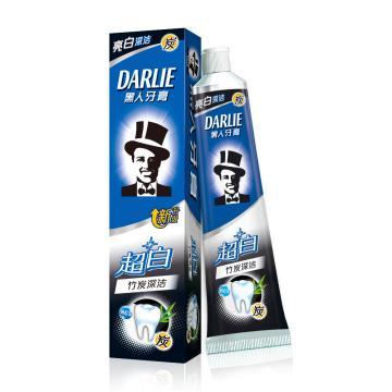 黑人darlie超白(竹炭深洁)牙膏,140g