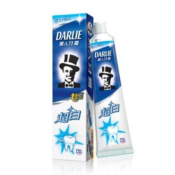 黑人darlie牙膏,超白90g