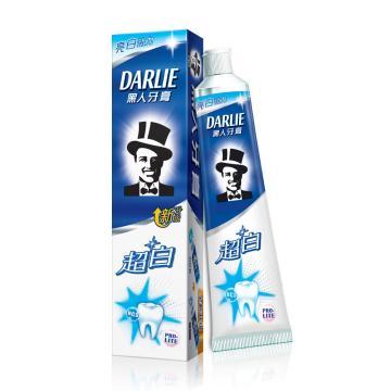 黑人darlie牙膏,超白140g