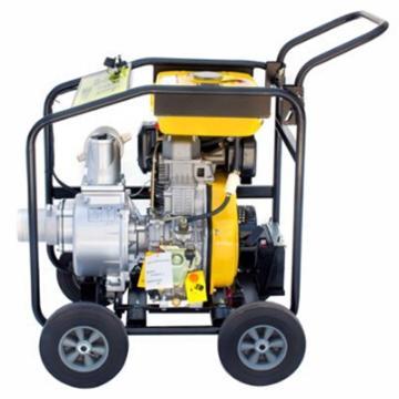 伊藤动力 4寸柴油机抽水泵自吸泵,YT40DPE-2,电启动,带轮子,最大吸程8米