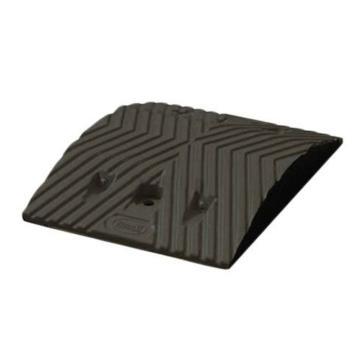 安赛瑞 重载橡胶减速带(10吨),优质原生橡胶,含安装配件,黑色,250×350×50mm,14457