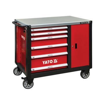 易尔拓YATO 高档6抽屉边柜工具车,1130 x570x1000mm,YT-09002