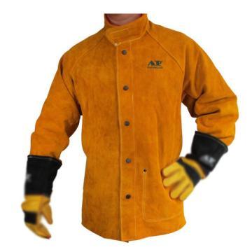 友盟 焊接防护服,AP-2130-L,金黄色全皮上身焊服