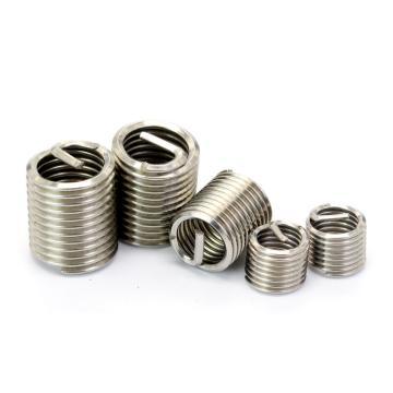 公制粗牙钢丝螺套,M8*1.25*1D,不锈钢304,洗白,1000个/盒