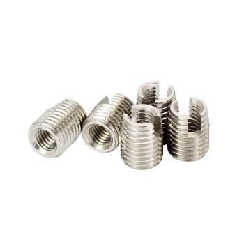 自攻螺套(302开槽型),M6*1-10*1.5-14L,不锈钢303,洗白,500个/盒