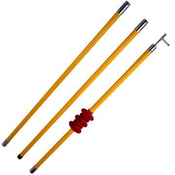 华泰 防雨拉闸杆,接扣式 10kv3节3米 带绝缘子