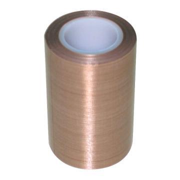 美澳 特氟龙PTFE玻璃纤维布耐高温胶带,棕色,0.25mm*100mm*10m