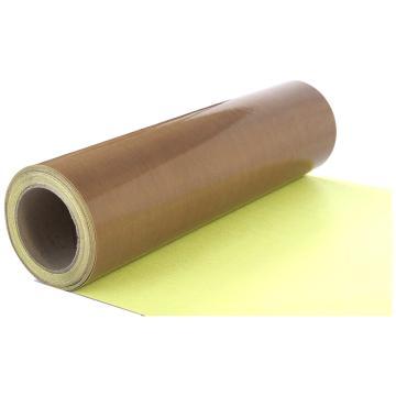 美澳 特氟龙PTFE玻璃纤维布耐高温胶带,棕色,带离型纸,0.13mm*1000mm*50m