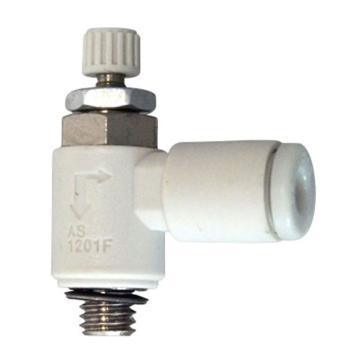 SMC 排气型流量控制阀,带快换接头,AS1201F-M5-04