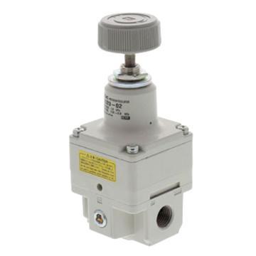 SMC 精密减压阀,手动型,0.01-0.8MPa,配管口径NPT1/8,IR1020-N01