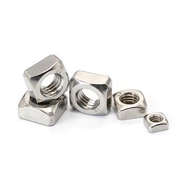 DIN557四方螺母,M8-1.25,不锈钢316L,洗白,900支/盒