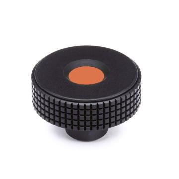伊莉莎+冈特 菱形滚花旋钮,带螺纹盲孔,橙色,MBT.30 B-M5-C2,1个