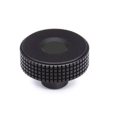 伊莉莎+冈特 菱形滚花旋钮,带普通盲孔,黑色,MBT.30 B-6-C9,1个