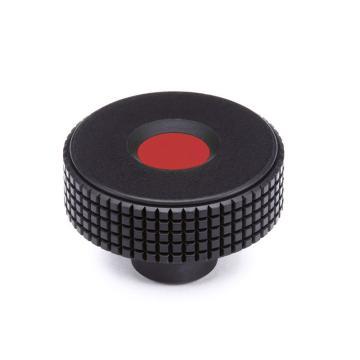 伊莉莎+冈特 菱形滚花旋钮,带普通盲孔,红色,MBT.30 B-6-C6,1个