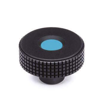 伊莉莎+冈特 菱形滚花旋钮,带螺纹盲孔,蓝色,MBT.30 B-M5-C5,1个
