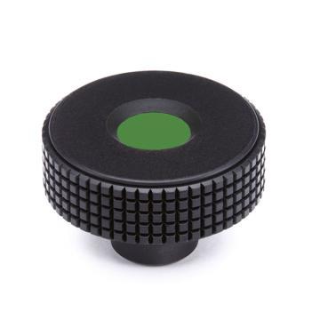 伊莉莎+冈特 菱形滚花旋钮,带螺纹盲孔,绿色,MBT.30 B-M5-C17,1个