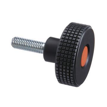 伊莉莎+冈特 菱形滚花旋钮,旋钮带镀锌钢螺杆,橙色,MBT.30 p-M5x10-C2,1个