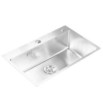 九牧 不锈钢加厚单槽水槽,槽体规格:700*450*220,06158-7Z-1