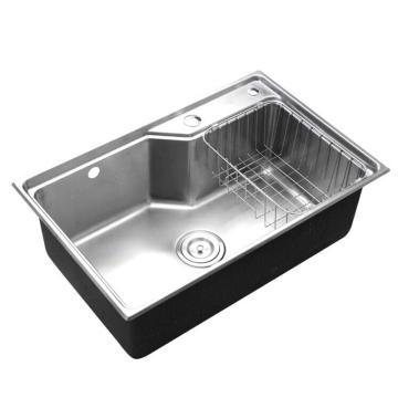 九牧 不锈钢单槽厨房水槽,槽体规格:675*435*230mm,06119-7Z-1