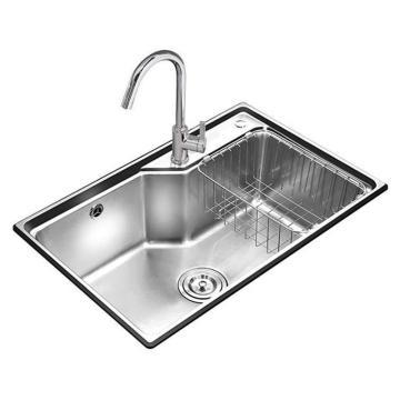 九牧 不锈钢单槽厨房水槽套餐,槽体规格:675*435*230mm,02113-00-Z