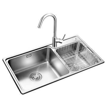 九牧 不锈钢双槽厨房水槽,槽体规格:790*440*200mm,02115-00-Z
