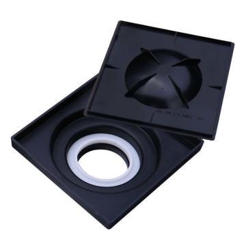 九牧 黑色方形地漏预埋盒,外形尺寸104mm*104mm*44mm,92158-00-1