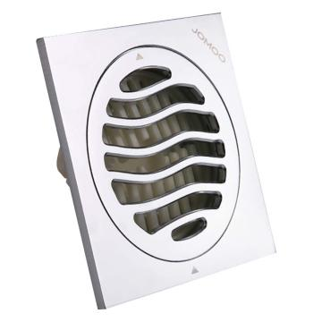 九牧 亮面精铜材质防臭地漏,10*10cm,92145-1B1-1